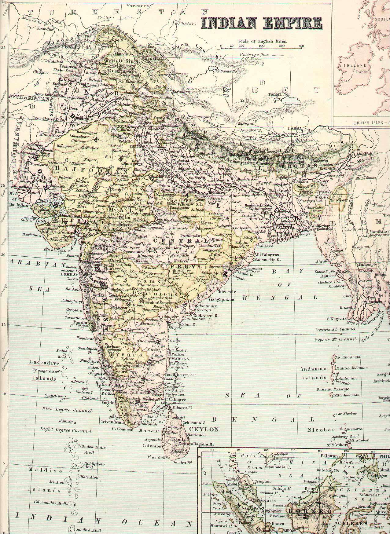 IRFCA Indian Railways FAQ Map of India 1875