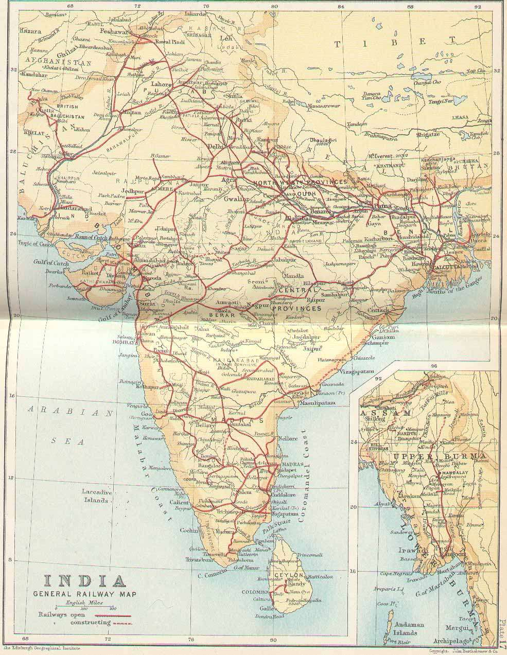 IRFCA Indian Railways FAQ Railway Map of India 1893