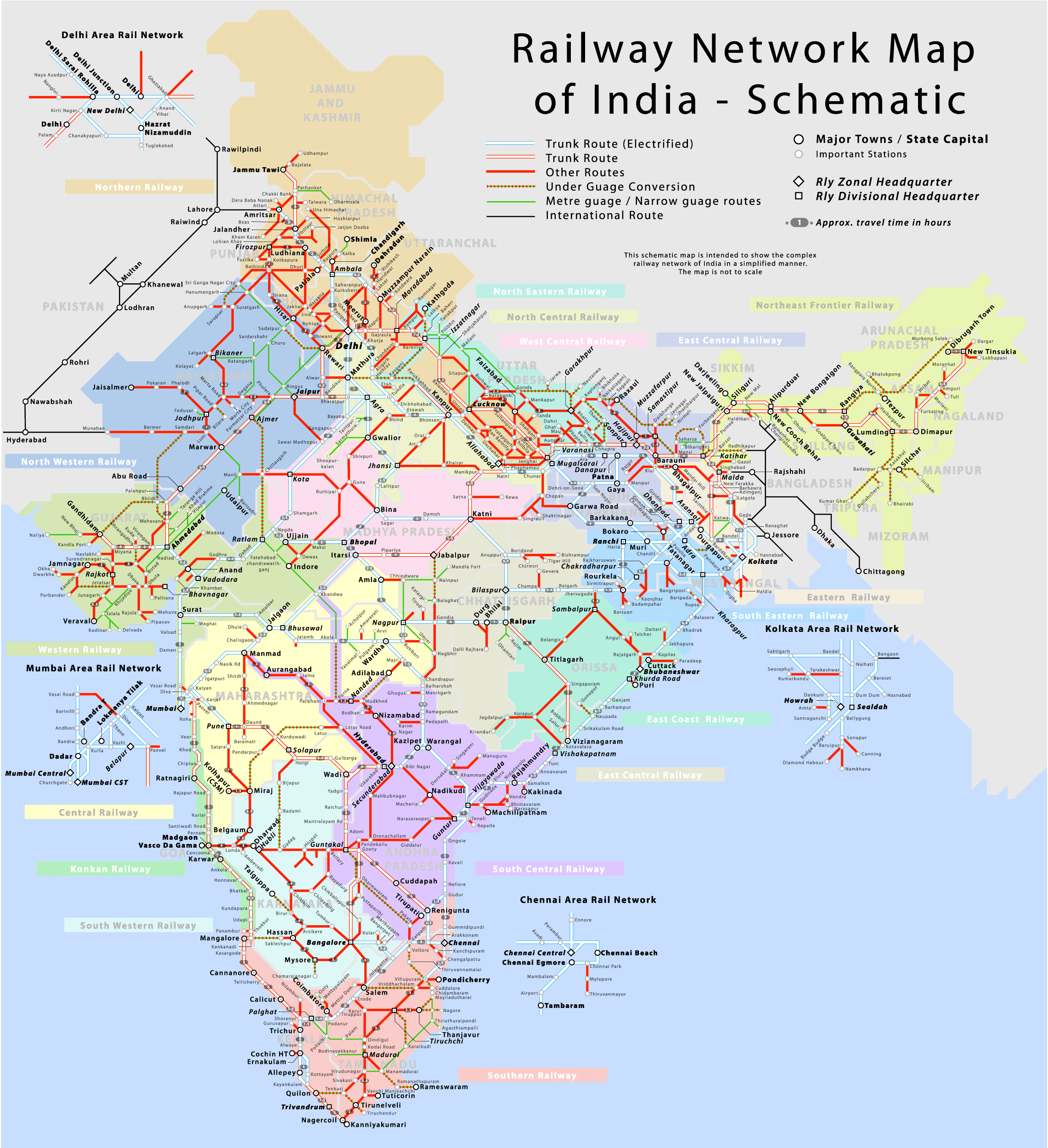 indian railways train route map Irfca Indian Railways Faq Schematic Map indian railways train route map