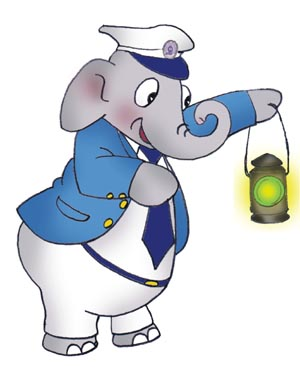 Bholu with a lamp